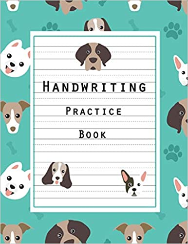 8.5 x 11 100 Pages Handwriting Hooked Learn Penmanship Practice Paper Notebook Letters /& Words with Dashed Center Line Handwriting Practice Book: Writing Ruled Handwriting Journal For Kids