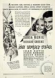 1938 Ad Lucky Star Sonjia Henie Richard Greene Movie Film Actor Gordon Revel - Original Print Ad