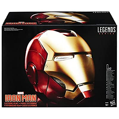 Avengers Marvel Legends Full Scale Iron Man Electronic Helmet: Toys & Games