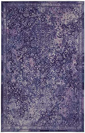 Mohawk Home Prismatic Garden City Purple Boho Distressed Abstract Precision Printed Area Rug, 8 x10 ,