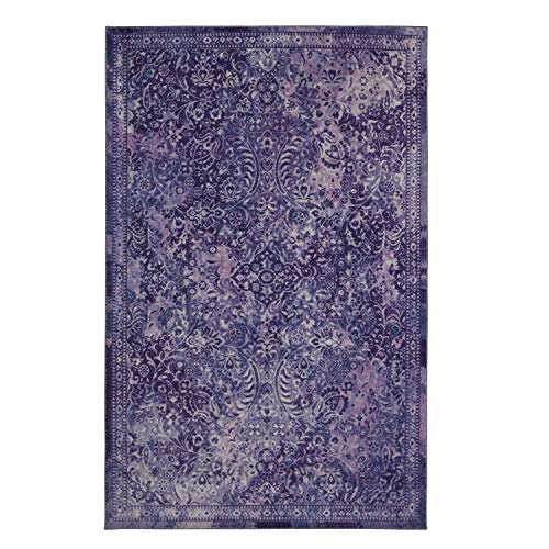 Mohawk Home Prismatic Garden City Purple Boho Distressed Abstract Precision Printed Area Rug, 5 x8