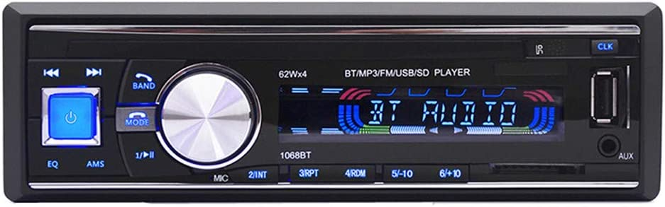 Nstcher Bluetooth Wireless Car Stereo Radio Audio MP3 Player in-Dash USB FM SD AUX Multifunction Bluetooth Vehicle MP3 Player