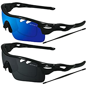 Sports Sunglasses,Mens Womens Polarized Glasses for Cycling Running,Pack of 2