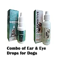PET O Clear Eye Drops for Dogs 15ML & SO Sensitive Tea Tree Oil Ear Cleaner for Dogs & Cats 15ML Combo