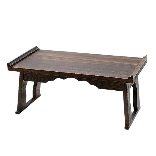 fabriqu la main en bois massif de style japonais portable pliant tables dordinateur - Table Japonaise Basse