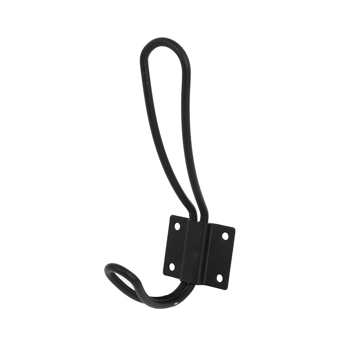 Uxcell a16062000ux0390 Kitchen Bathroom Clothes Hooks Robe Hat Coat Wall Hanger Black Dragonmarts - BISS