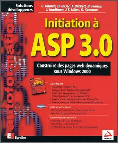 Livres gratuits en ligne Initiation à Asp 3.0 pdf epub
