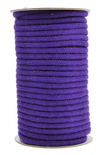 (Mandala Crafts Soft Drawstring Replacement Rope Upholstery Crochet Macramé Cotton Welt Trim Piping Cord (Purple, 5mm))
