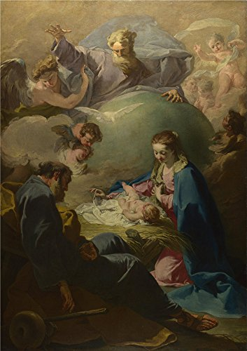 Oil Painting 'Giovanni Battista Pittoni The Nativity With God The Father And The Holy Ghost' 12 x 17 inch / 30 x 43 cm , on High Definition HD canvas (Halloween Express Coupon Printable)