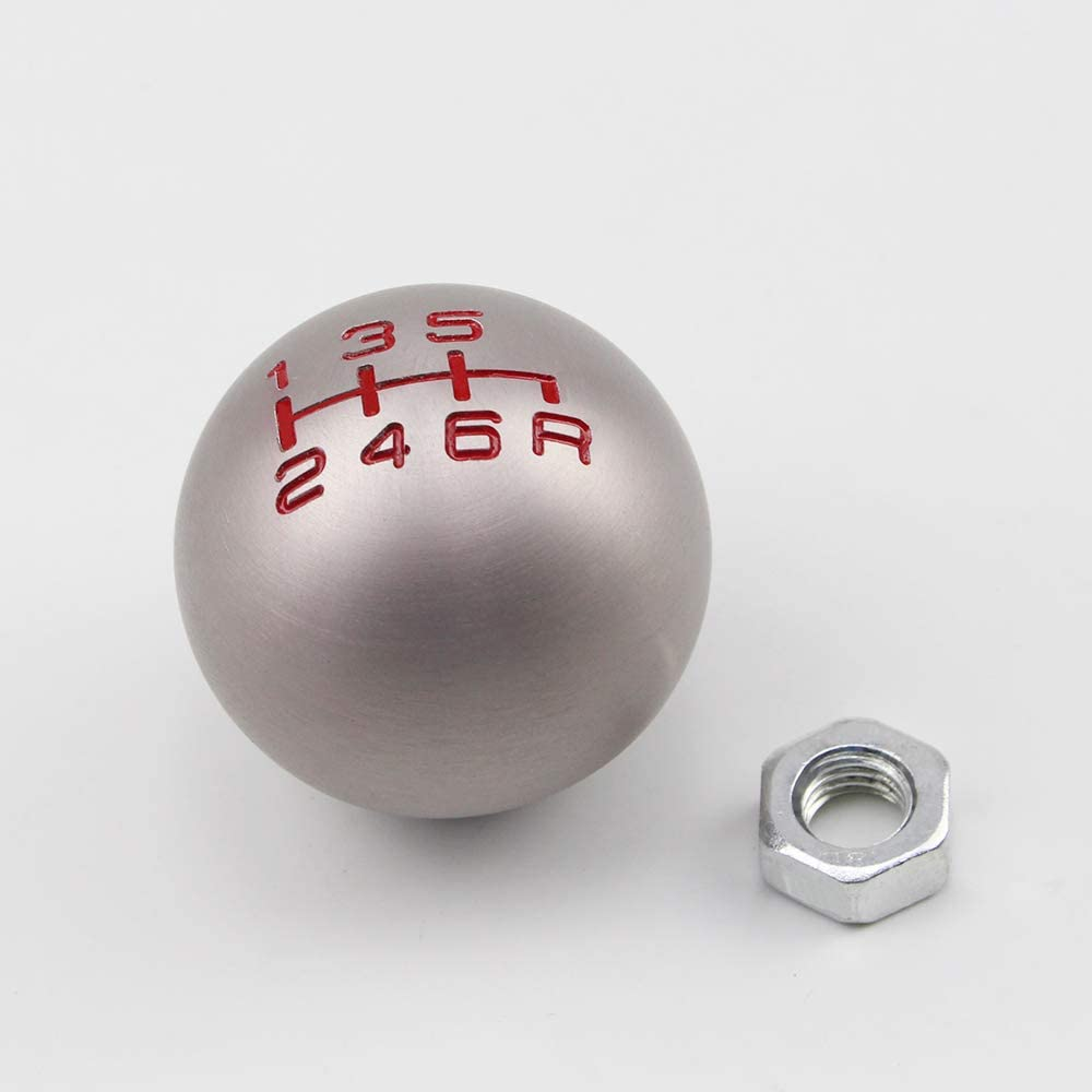 Pomo de Palanca de Cambios Profesional de Aluminio CNC con Forma de Bola de Velocidad 5//6 para Honda Elegantamazing