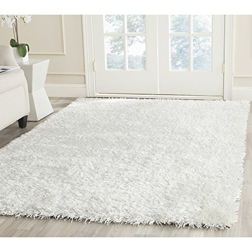 (Safavieh New Orleans Shag Collection SG531-1111 Off-White Polyester Square Area Rug (7' Square))