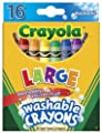 Crayola Large Washable Crayons 16 Pack