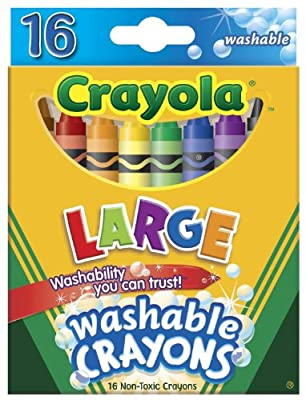 Crayola Large Washable Crayons 16 Pack - 2 Packs | Popular Toys