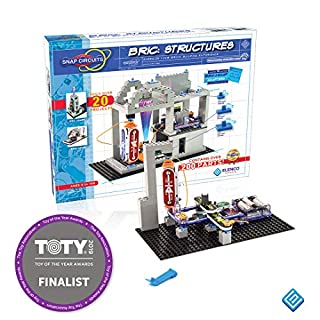 Snap Circuits BRIC: Structures | Brick & Electronics Exploration Kit | Over 20 Stem & Brick Projects | Full Color Project Manual | 20 Parts | 75 BRIC-2-Snap Adapters | 140+ BRICs