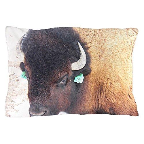 CafePress Bison Standard Size Pillow Case, 20