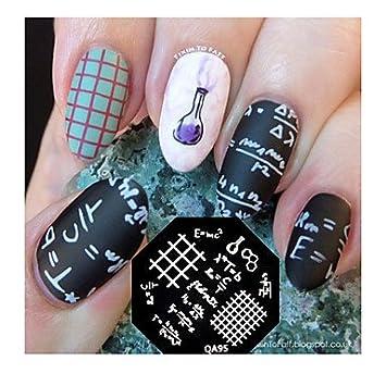 Hjlhyl Stamping Nail Art Image Plate Mod Le Timbre Formula Math