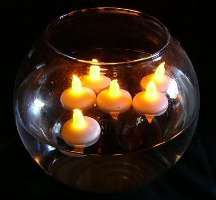 ... Velas Pequeñas AMARILLO Parpadeante, ideal para flotante en piscina, peceras, tazones de fuente de rose, boda centro de mesa: Amazon.es: Iluminación