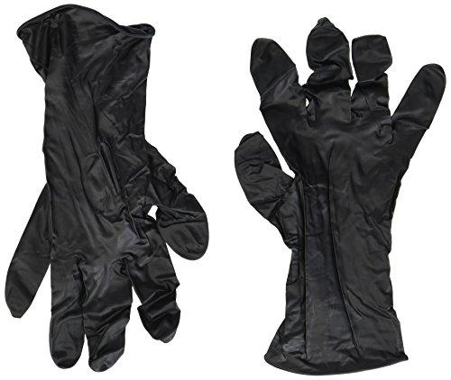 Adenna Dark Light 9 mil Nitrile Powder Free Exam Gloves (Black, Medium) Box of 100 - Pack of 2