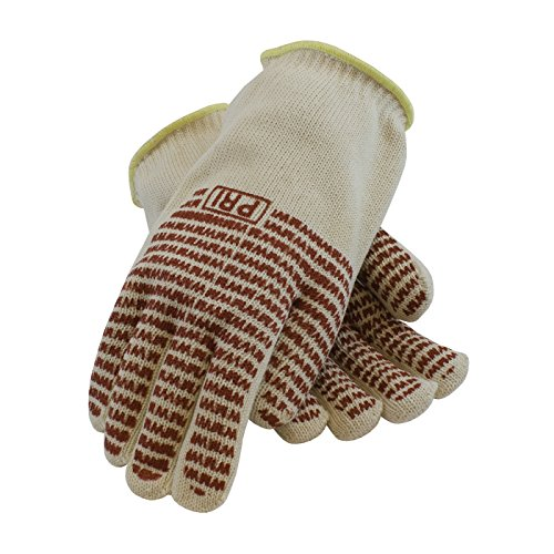 Knit Mill Hot (PIP 43-802L Double-Layered Cotton Seamless Knit Hot Mill Glove with Double-Sided EverGrip Nitrile Coating, 32 oz.)
