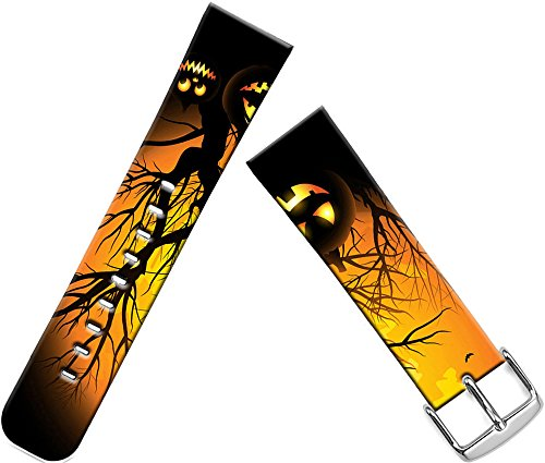 Bands Compatible with Iwatch 40mm/38mm Halloween & Cisland Leather Strap Compatible with Apple Watch Series 1/2/3/4 Sport & Edition Halloween Hallowmas All Saints' Day Pumpkin Print -
