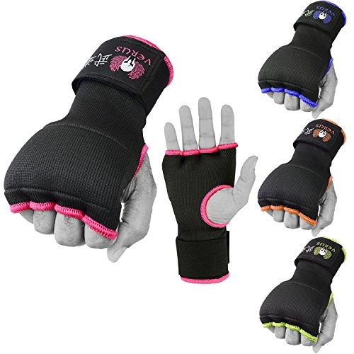 VERUS Boxing Gel Inner Gloves MMA Muay Thai Martial Arts Training Hand Wraps UFC (Pink, Small)