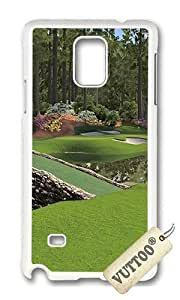 Samsung Note 4 Case,VUTTOO PC Plastic Hard Case Print Photo:12th Augusta National For Samsung Note 4 - PC White