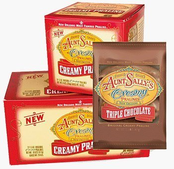 Aunt Sally's Creamy Triple Chocolate Pecan Pralines, Box of 12 -