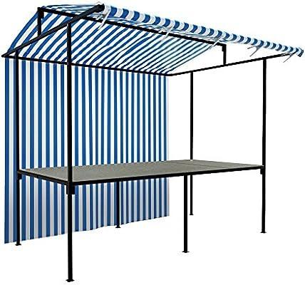 Basic soporte de puesto de mercado al aire libre comercio tradicional quiosco funda para Catering todos los colores y tamaños profesional con marco de acero resistente Kit completo: Amazon.es: Jardín