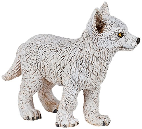 Papo Young Polar Wolf Figure, Multicolor
