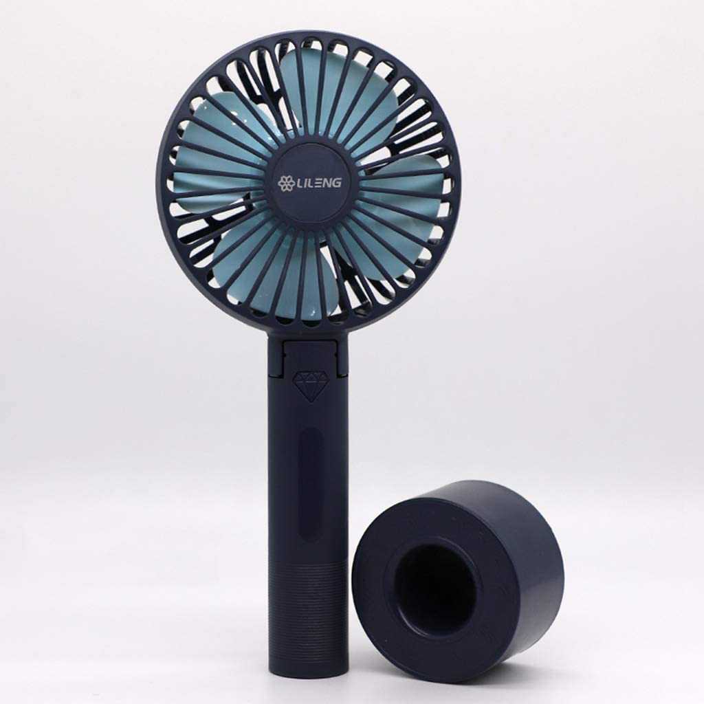 Misright Mini Portable Handheld Fan With Stand Cradle USB Charging Mute Cooling Fan