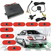 FEELDO Car Original Style 16.5mm 8-Sensor Video Rearview Visual Parking Sensor Backup Radar System 3-Color (black)
