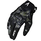 AINIYF Full Finger Motorcycle Gloves| Summer Men's Cavalier Breathable Drops Sports Gloves Cycling Locomotive Touch Screen Racing Fall (Color : White, Size : M)