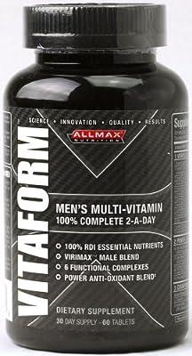 ALLMAX VITAFORMTM, Premium Performance Multi-Vitamin, Dietary Supplement For MEN, 30 Day Supply, 60 Tablets