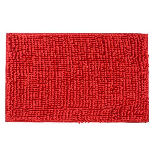 KLOUD City Red Anti-Slip Microfiber Carpet/Doormat/Floor Mat/Bedroom/Kitchen Area Rug Carpet (31 x 20) Plus KLOUD Cleaning Cloth