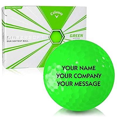 Callaway Golf Supersoft Matte Green Personalized Golf Balls