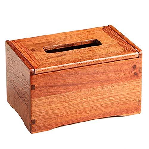 LIULIJUN Burmese Rosewood Tray Paper Table Solid Wood Tissue Box Mahogany Coffee Table Large Fruit Rosewood Napkin Box Storage Box (Color : ()