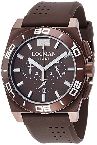 LOCMAN watch stealth Mare quartz chronograph rotating bezel Men's 0212 0212BNNA-BNNSIN Men's [regular imported goods]