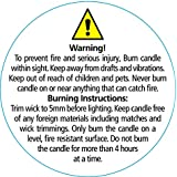 50 Small Candle Making WARNING SAFETY Burning Labels. by whicksnwhacks