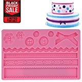 "Lacey Mold | 7.8"" x 5"" x 0.4"" Food Grade Silicone Fondant Molds 
