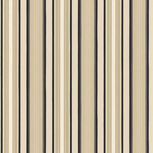 Norwall TS28106 Textured Stripe Prepasted Wallpaper Beige, Cream, Black
