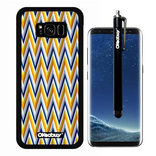 Galaxy S8 Plus Case, Long Arrows Wavy Patterns Case, OkSoBuy Ultra Thin Soft Silicone Case for Samsung Galaxy S8 Plus - Long Arrows Wavy (Plant Marsh Wood)