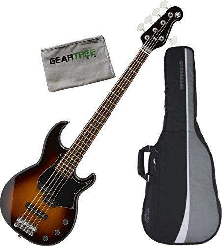 5 String Bass Tobacco Sunburst (Yamaha BB435 TBS 5 String Bass Guitar (Tobacco Brown Sunburst) w/Polish Cloth and Gig Bag)
