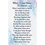 When I Come Home to Heaven POEM Pocket Cards/Bookmark - Set of 12