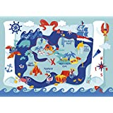 Silly Street 39603-Treasure Map-Kids 48 Large Piece Jigsaw Puzzle