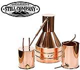 2.5 Gallon Copper Moonshine Still with Worm & Thumper by North Georgia Still Company