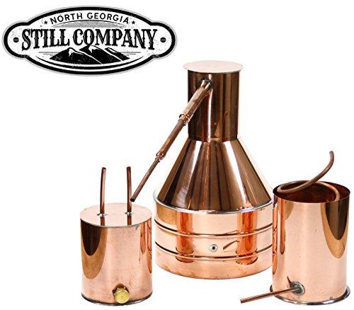 North Georgia Still Company 2.5 Gallon Copper Moonshine Still with Worm & Thumper by North Georgia Still Company price tips cheap
