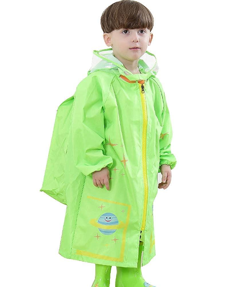 Kids Jetable Imperméable à Capuche Pluie Poncho Mac-Bleu
