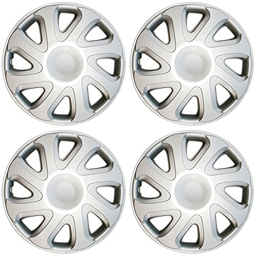 OxGord Hub-Caps for Select Toyota Corolla (Pack of 4) 14 Inch Silver Wheel Covers