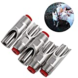 Tangc 5Pcs/set Steel 1/2'' PT Thread Pig Hog Automatic Nipple Drinker Waterer