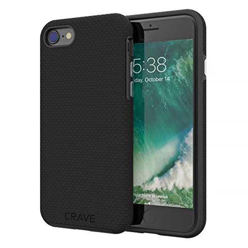 iPhone 8 Case, iPhone 7 Case, Crave Dual Guard Protection Series Case for Apple iPhone 8/7 (4.7 Inch) - Black